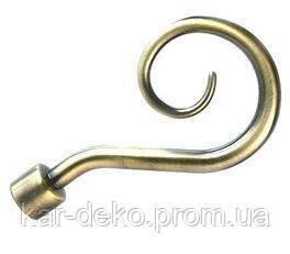 фото наконечник на карниз металлический трехрядный  kar-deko.com