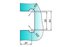 Петля для стеклянной двери с креплением к стене 90 градусов (стена-стекло)  , фото 2