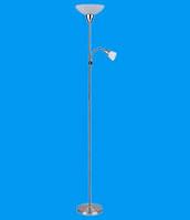 Торшер напольный с лампой для чтения LAGUNA матовый хром