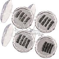 Накладные ресницы на ТРЕХ магнитах Eyelashes в ассортименте ( 5 видов)