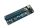 Райзер USB 3.0 PCI-E Express Riser 1X - 16X для видеокарт 60 см 006C, фото 2
