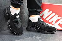 Мужские кроссовки Nike Huarache (черные), ТОП-реплика, фото 1