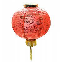 Китайский фонарик из ткани красный