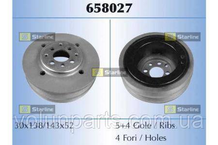 Шкив коленвала VAG A4/PASSAT 1.9TDI 95-01 028105243Q rs658027
