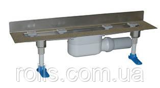 HL50W.0/60 Угловой душевой лоток для линейного отведения воды с сифоном DN50, с материалом для монтажа.