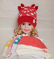 Детская  трикотажная шапка для девочки р 36-38 лет оптом