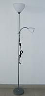 Торшер напольный с лампой для чтения LAGUNA  серый белый