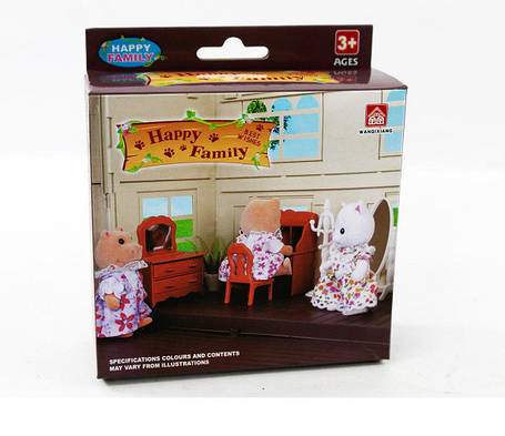 Набор мебели Гостиная для флоксовых животных Happy Family 012-05B (аналог Sylvanian Families), фото 2