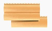 Сайдинг Виниловый Блок-Хаус двухпереломный Золотистый 3,1*0,32 м.(BlockHouse)