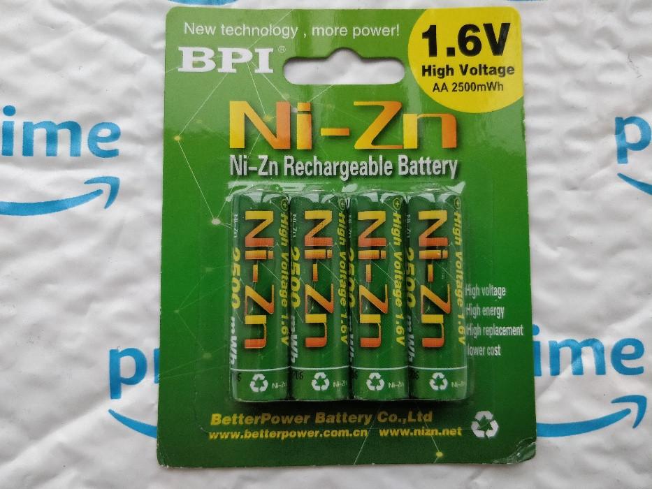 Аккумулятор BPI 1.6V  Ni-Zn АА 2500 mWh | AAA 1100 mWh / Зарядка USB