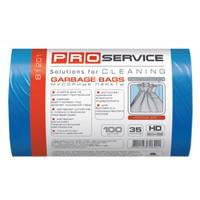 PRO Пакет для мусора п/э 50*55 синий HD 35л/100шт. (20шт/ящ)