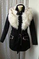 Куртка пальто мех осень зима River Island р.44 7680