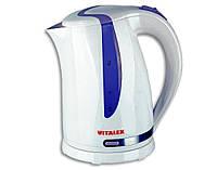 Электрочайник с подсветкой Vitalex VL-2026, чайник электрический 1,7 л, электрочайник