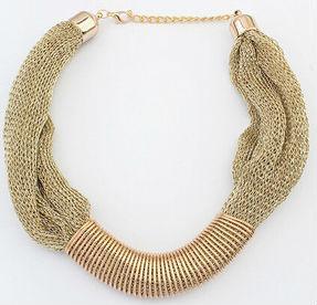 Ожерелье колье золотистое tb1186