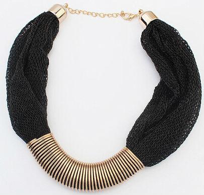 Ожерелье колье черное tb1187