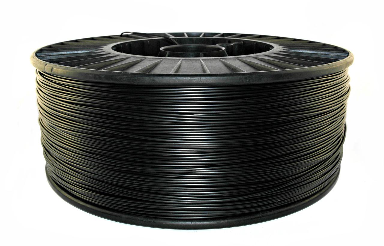 Нить ABS Premium (АБС) пластик для 3D принтера, Черный (1,75 мм/2.5 кг)