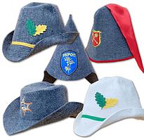 Стильные шапки для сауны и бани