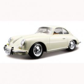 Автомодель - PORSCHE 356B (1961) (ассорти слоновая кость, красный, 1:2