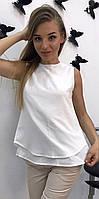 Летняя шифоновая блуза с открытой спиной