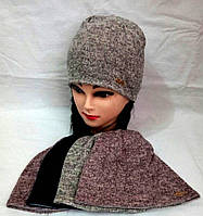 Детская  шапка  для девочки на подкладке р 50-52 оптом