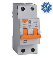 Диф автомат General Electric DDM60. C. 16A. 30mA 2P. AC. 6kA