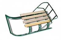 Санки детские со спинкой, деревянные планки ,74-010