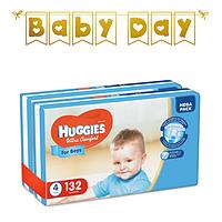 Подгузники детские Huggies Ultra Comfort для мальчиков 4 (7-16 кг) Mega Pack 132 шт, фото 1