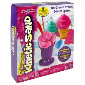 Набор песка для детского творчества - KINETIC SAND ICE CREAM (розовый,