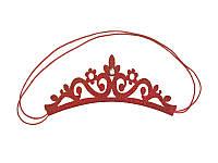 """Резинка на гульку """"Корона со стразом"""" Красная"""