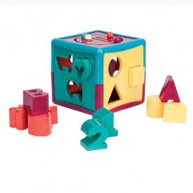 Развивающая игрушка-сортер - УМНЫЙ КУБ (12 форм) от Battat Lite - под