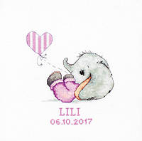 Luca-S Набор для вышивки крестом Baby Girl метрика В1133