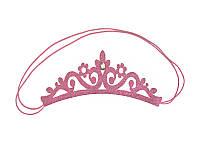 """Резинка на гульку """"Корона со стразом"""" Розовая"""