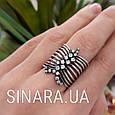 Серебряное кольцо перстень с чернением и фианитами Земфира, фото 6