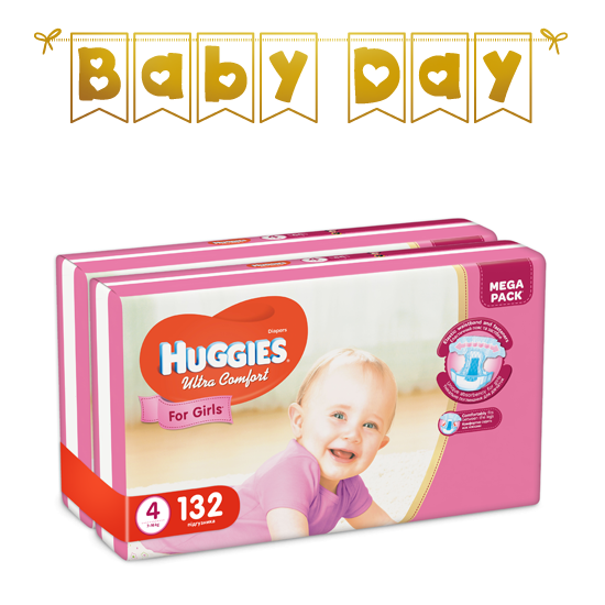 11f4a5321ddb Подгузники Huggies Ultra Comfort для девочек 4 (7-16 кг) Mega Pack ...