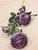 Цветы искусственные Роза-пион ветка 68см