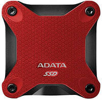 USB-SSD-TLC 256GB ADATA SD600 Red (ASD600-256GU31-CRD)
