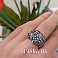 Серебряное кольцо с чернением Коралы, фото 5