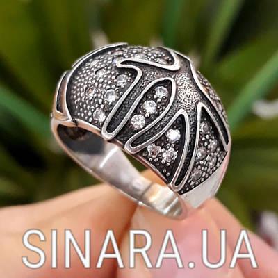Серебряное кольцо с чернением Коралы