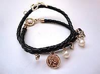 Кожанный черный браслет Рим, фото 1