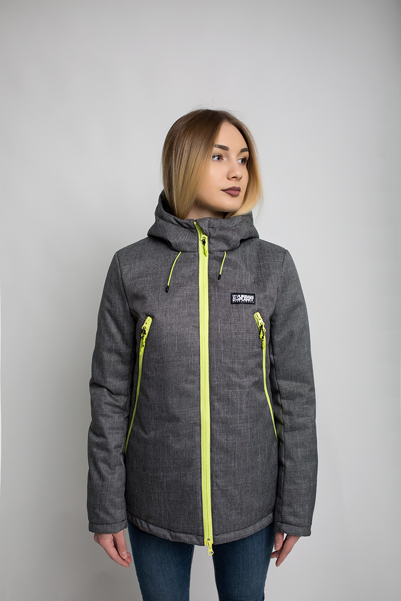 Куртка женская зимняя AW3 MEL Urban Planet серая (женская куртка, парка  женская, куртка 219c8847bea
