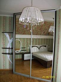Встроенный угловой шкаф-купе в спальню
