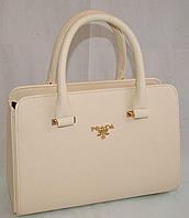 Женская сумка, саквояж Prada (белый), 00154