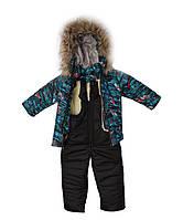 """Детский зимний костюм """"Тачки""""  на синтепоне, размеры 1-3 года"""