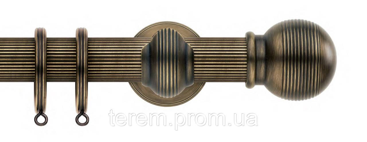 Карниз рифленый латунь (цвет на выбор), диаметр 35, 25, 20