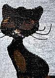 Туника для девочки  Кошечки ,пайетки перевертыш.140-146, фото 2