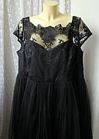 Платье вечернее черное батал Chi Chi р.64 7660, фото 1