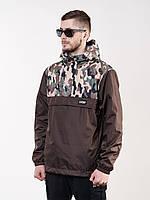 Анорак мужской ветровка AN CAMO Urban Planet коричневый (мужская куртка, ветровки, куртка чоловіча, ветровки)