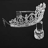 Корона для конкурса, диадема под серебро, тиара, высота 5,5 см., фото 2