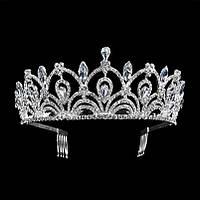Корона, диадема для девочки, тиара, высота 5,5 см.