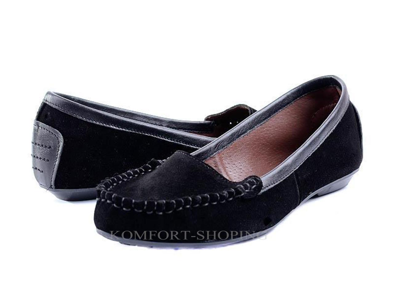Мокасины   женские замшевые, черные  V 676